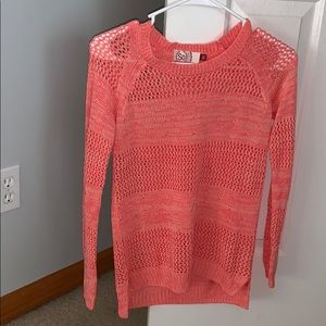 Coral Colored Sweater
